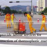 construction of thermoplastic marking
