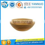 Chinese natural Bamboo Salad Food Bowl wholesale Support Custom LOGO
