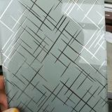Acid Etched Glass (Singe and Double Side Chemical Etching)For Decoration Glass
