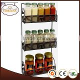 Hot sale 3 tier wall mounted metal spice rack