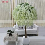 Plastic artificial cherry blossom tree in mini size