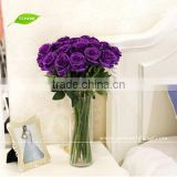 FLS01-5 GNW Decorative fresh black rose flower for wedding decoration stage plastic flower wedding