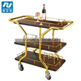 hotel wooden tea serving carts trolley