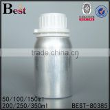 natural silver aluminum bottle for alcohol