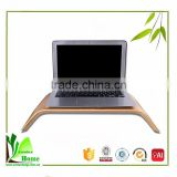 Environmentally friendly natural bamboo desk monitor stand