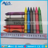 customized cheap crayon pen with paper box for promotion