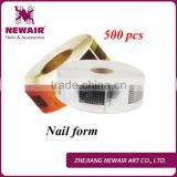 Newair square 500 pcs gel gold Guide Extension Nail Form