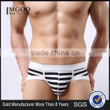 MGOO Custom Made European Boys Underwear Stripe Boxer Brief For Man Penis Sexy Jocks ckcm01