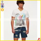 wholesale V-neck camisas de hombre cool t shirt manufacture OEM/ODM