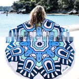 Cotton Velour Promotions Logos Australian The Beach People Roundie Towel With Tassel Fringe