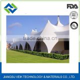 Tensile membrane structure ptfe roof covering fabric