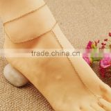 Double Layer Chain Anklet Bracelet Foot Harness Toe Ring Barefoot Sandal Beach