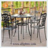 Cast aluminum dinning table set