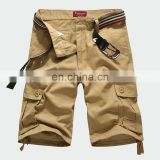good quality hot sale casual fashion outdoor slim fit custom cotton/polyester cheap men baggy cargo shorts belt direct factory