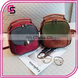 Hot selling new vintage backpack fashion daypack ladies PU creative backpack