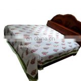 Cotton Bedspread Indian Block Printed Throw Bedsheet Bedcover Picnic Sheet / Home Textile / Bedspread