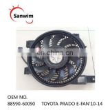 88590-60090 Radiator cooling fan motor & shroud fits TO-YO-TA PR-ADO 2.7L 2010 2011 2012 2013 2014