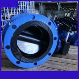 D341J-10Q rubber lining disc butterfly valve 400 16inch used Thermo technical water treatment