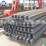 China manufaturer DIN 536 A55 crane steel rail for Overhead Crane