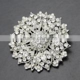 wholsale fashion silver gold crystal rhinestone diamond pearl handmade fabric flowers wood butterfly brooch
