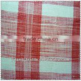 Yarn dyed checked linen fabric