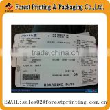 Printed custom boarding pass, boarding pass booking                                                                         Quality Choice