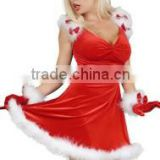 2015 fashion cheap red women christmas sexy dress costumes