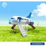 Cost-effective most popular hot selling airplane style children outdoor playground equipment