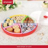 D498 5 Sectors in 1 round shaped candy box house designs acrylic makeup organizer with Colorful design