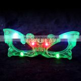 Wholesale Red Butterfly Shape Flashing LED Light Up Flashing Glass Glasses Club Glow Party Gift Face Mask