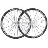 stiff 700C 38mm clincher road rims carbon road bike racing wheels with carbon hub Sapim CX ray spokes                                                                         Quality Choice
