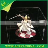 2mm clear acrylic model display box, transparent plexiglass model display box with jointing