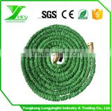 Triple layers expandable water hose 3layers brass fitting magic garden hose thread connector with valve flexible hose