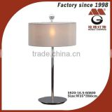 grey shade of stainless steel modern table lamps in chrome                                                                         Quality Choice