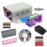 25000RPM Complete Electric Nail Drill Kit Set Art File Bit Acrylic Manicure Band