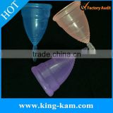 Reusable silicone lady Menstrual Cups