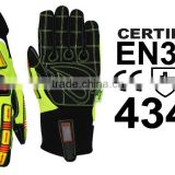 ORIGINAL SKATIQ IMPACT SAFETY GLOVES / OIL AND GAS FIELD DRILLING / CANADIAN BRAND / EN388:4443 CERTIFIED
