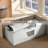 bathtub indoor Factory price corner massage bathtub with back massage headrest 2013 G661