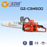 China wood cutter 1.7kw gasoline chain saw cutter machine manual chain saw factory price CS-4500