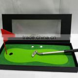 Souvenir Gifts Custom Log Metal Mini Golf Course with Pens and Balls