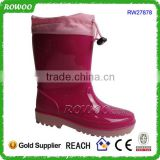 printing women cheap rain boots, water proof knee high boots, 100% PVC Injection rain boots