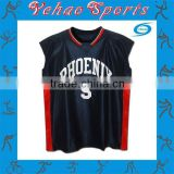 Hot sale basketball practice jersey reversible fabric for college team