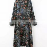 Summer Long Sleeve Maxi African Shirts Floral Ethnic Designs Dress                                                                         Quality Choice