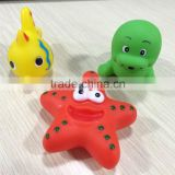 hot sales bath toy, rubber toys, rubber walrus, rubber tropical fish