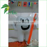 Customized Advertising Self Inflating Giant Tooth Shape Helium Balloon / Inflatable Toothbrush