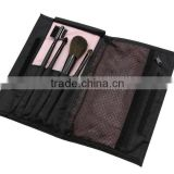 4pcs black cosmetic travel tool kit/makeup brush set wholesale/china manufacturer/make up tool bag products china