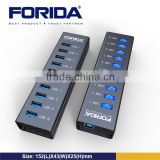 Forida self powered usb hub, best buy usb hub 10 port aluminium case