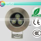 waterproof LED pool light 3W 304 stainless steel IP68 CE ROHS