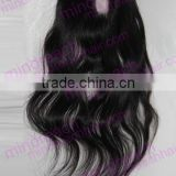 CHINA MR HAIR ! brazilian unprocessed nature wave and nature color clip in U part closure