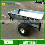 CE certificated ATV tow galvanized box trailer for garden